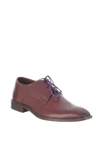 Herbie Frogg Leather Brogue Shoe, Burgundy