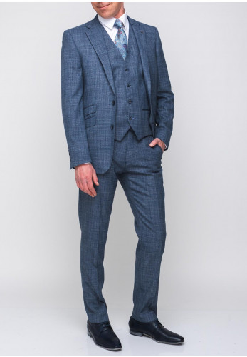 Herbie Frogg Mayfair Tailored Fit Woven Three Piece Suit, Blue