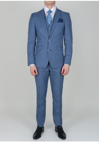 Herbie Frogg Blue Nails head Print 3-Piece Suit