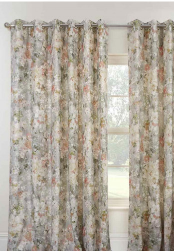 Sundour Giverny Eyelet Fully Lined Curtains, Moon Stone