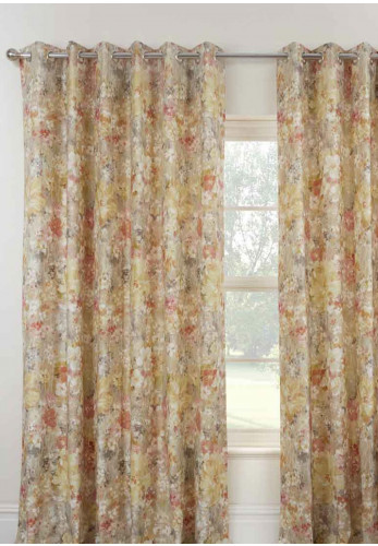 Sundour Giverny Eyelet Fully Lined Curtains, Sienna