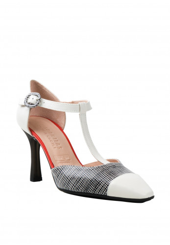 Hispanitas High T-Bar Heels, Monochrome