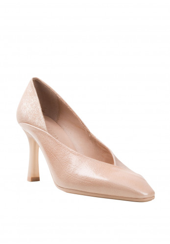 Hispanitas High Cut Metallic Heel Shoes, Pink