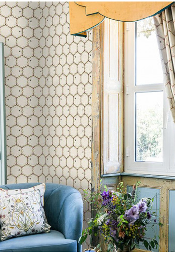 The Chateau Honeycomb Wallpaper, Cream