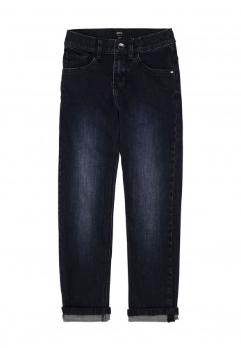 Hugo Boss Boys Boss Logo Jeans, Dark Denim