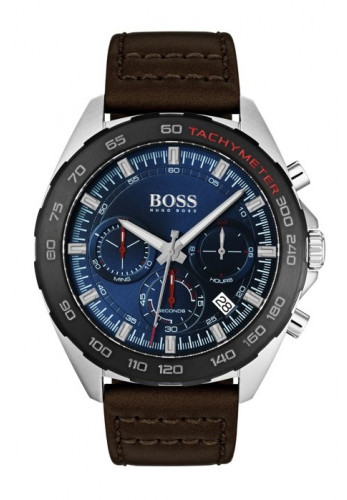 Hugo Boss Chronograph Watch, Blue/Brown