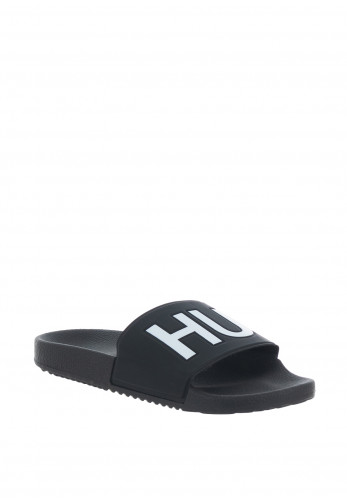Hugo Boss Timeout Logo Sliders, Black/White