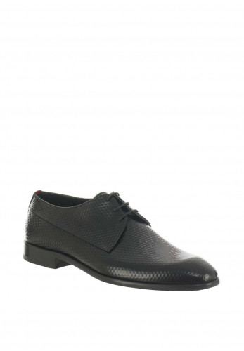 Hugo Boss Leather Diamond Shoe, Black