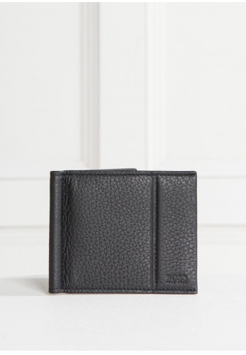 Hugo Boss Traveller Leather Wallet, Black