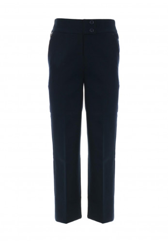 Hunter Girls Straight Leg School Trousers, Navy