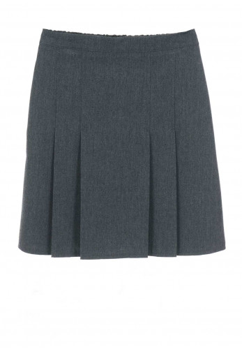 Hunter Girls Grey Plaited School Skirt