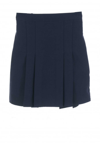 Hunter Girls Navy Plaited School Skirt
