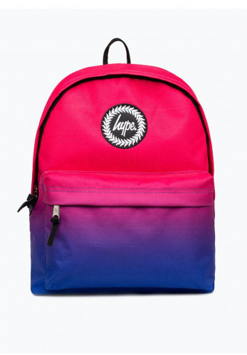Hype Fade Backpack, Pink and Blue