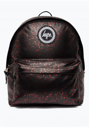 Hype Flakes Metallic Backpack, Black and Pink