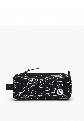 Hype Outline Camo Pencil Case, Black