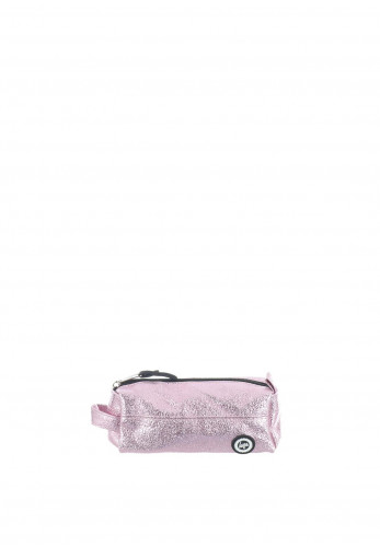 Hype Crinkle Foil Pencil Case, Pink
