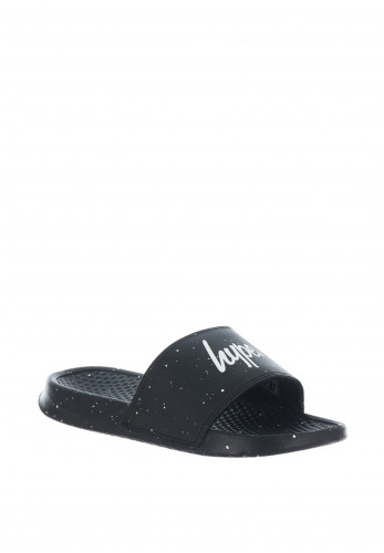 Hype Kids Mono Speckle Slider Sandals, Black