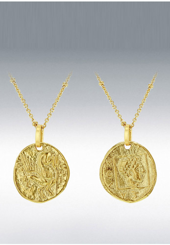 9 Carat Gold 2Sided Coin Necklace, Gold