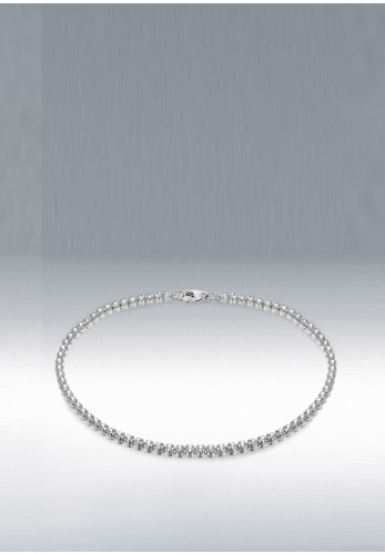 Sterling Silver Plated Round Bracelet, Silver