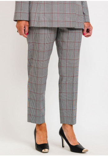 I Blues Cammeo Checked Slim Trousers, Grey Multi