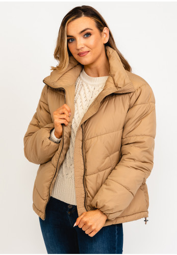 B Young Quilted Puffer Jacket, Beige