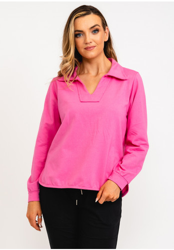The Casual Company Kate Collared Sweater, Pink