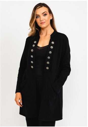 The Casual Company Harper Military Style Relaxed Jacket, Black