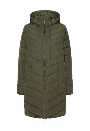 Ilse Jacobsen Peppy Down & Feather Padded Quilted Coat, Army Green