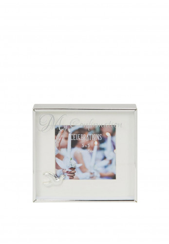"Widdop Bingham 3"" x 3"" Silver Plated Box Frame, My Confirmation"