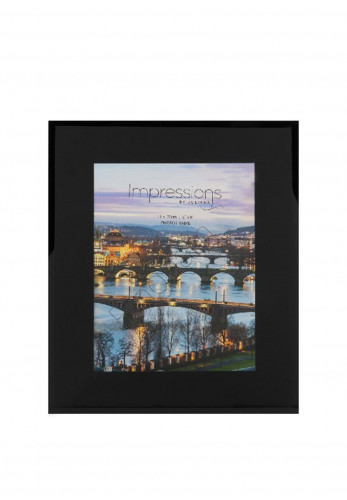 "Impressions Black Glass Photo Frame 6"" x 8"""