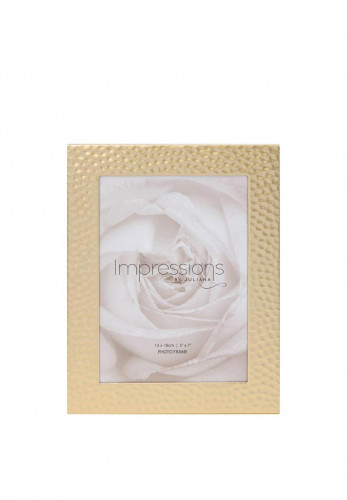 "Impressions Hammered Effect Matt Gold Photo Frame 5"" x 7"""