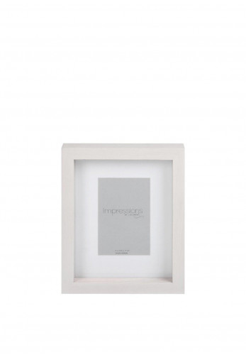 "Impression 4"" x 6"" Photoframe, Washed White"