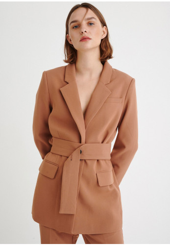 Inwear Katrice Belted Blazer Jacket, Brown