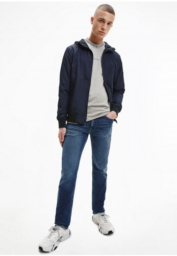 Calvin Klein Recycled Hooded Bomber Jacket, Night Sky