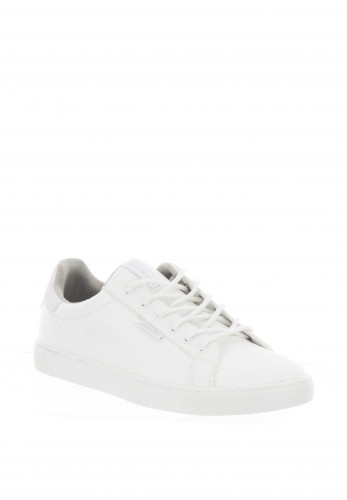 Jack & Jones Boys Trent Faux Leather Trainers, White