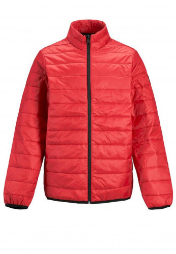 Jack & Jones Boys Eeric Puffer Collar Jacket, Red