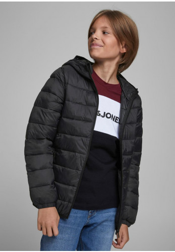 Jack & Jones Boys Magic Puffer Coat, Black