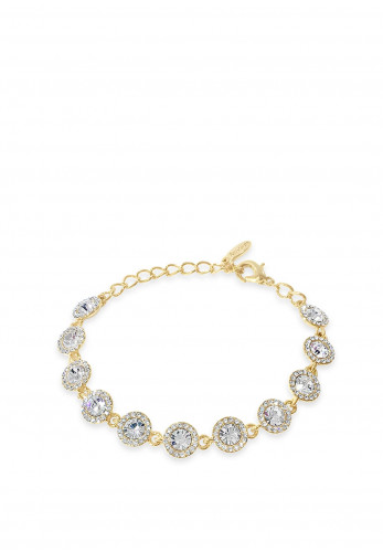 Absolute Crystal Circle Stud Bracelet, Gold