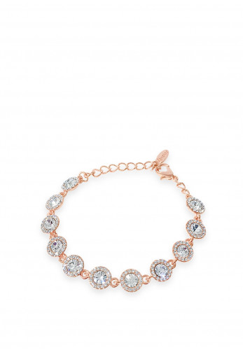 Absolute Crystal Circle Stud Bracelet, Rose Gold