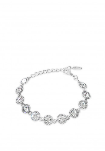 Absolute Crystal Circle Stud Bracelet, Silver