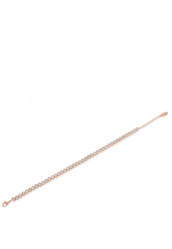 Absolute Crystal Beaded Bracelet, Rose Gold