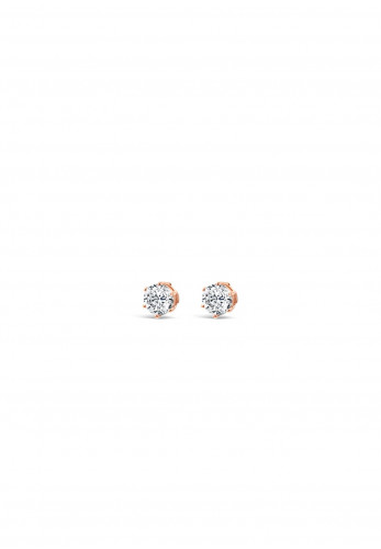 Absolute Crystal Stud Earrings, Rose Gold