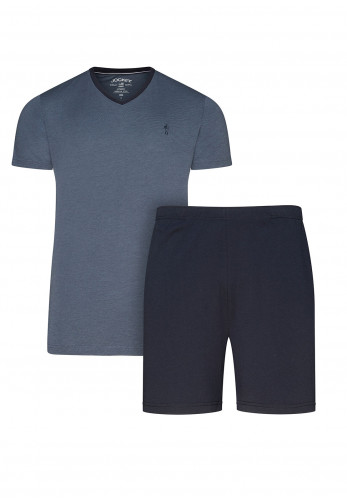 Jockey Mens V-Neck T-Shirt & Short Pyjama Set, Navy