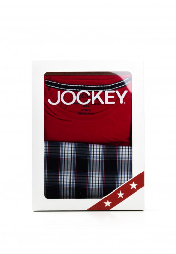 Jockey Mens T-Shirt & Short Pyjama Set, Red