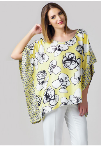 Jomhoy Boni Floral Loose Fit Top, Lemon