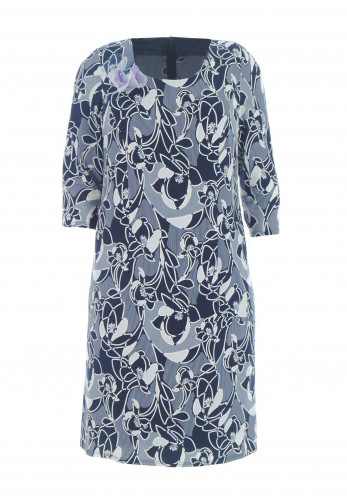 Jomhoy Acapulco Floral Jersey Dress, Navy & Cream