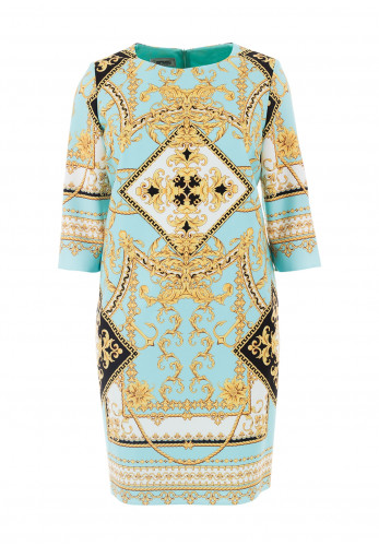 Jomhoy Julieta Vintage Print Dress, Blue Multi