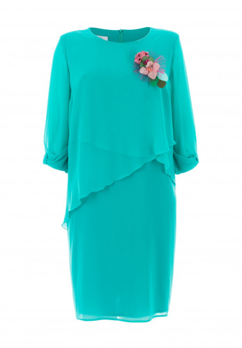 Jomhoy Pilar Chiffon Midi Dress, Jade Green