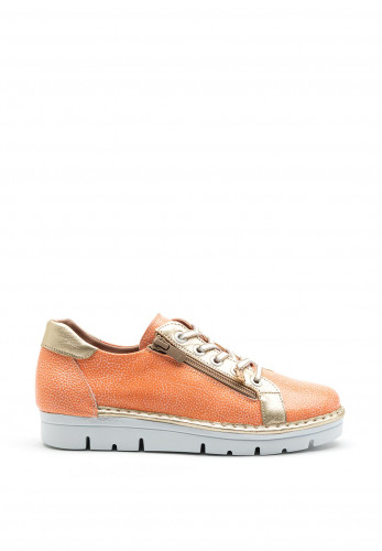 Jose Saenz Leather Sneaker Trainers, Coral