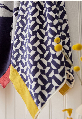 Joules Honeycomb Geo Towels, Navy